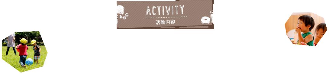 ACTIVITY 活動内容